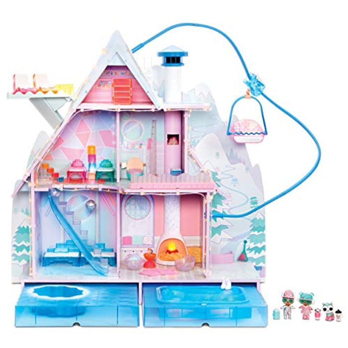 L.O.L Surprise! Winter Disco Chalet Doll House with 95+ Surprises