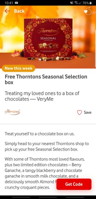 Free Thorntons Chocolates
