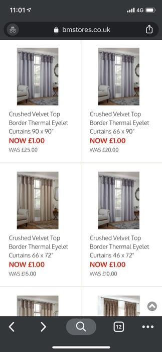 Curtains on Sale