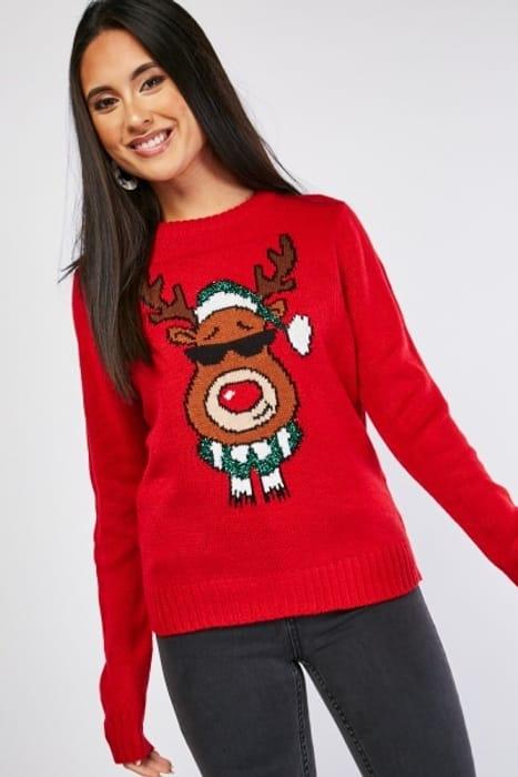 Reindeer Christmas Knit Jumper