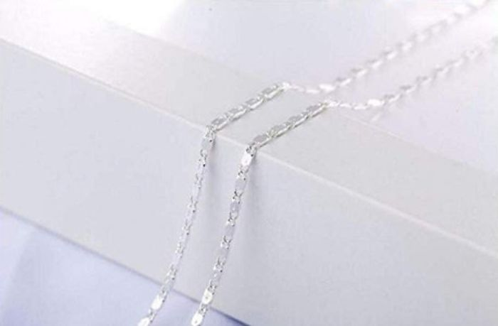 """Sterling Silver 18"""" 22"""" 24"""" 26"""" 30"""" Necklaces Chain for Women"""