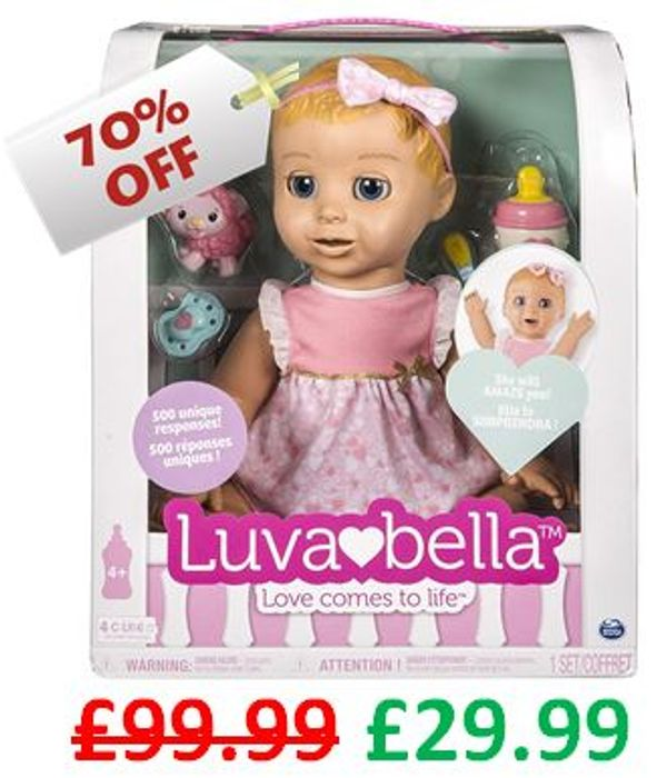 CHEAPEST EVER PRICE! Luvabella Interactive Doll - Blonde