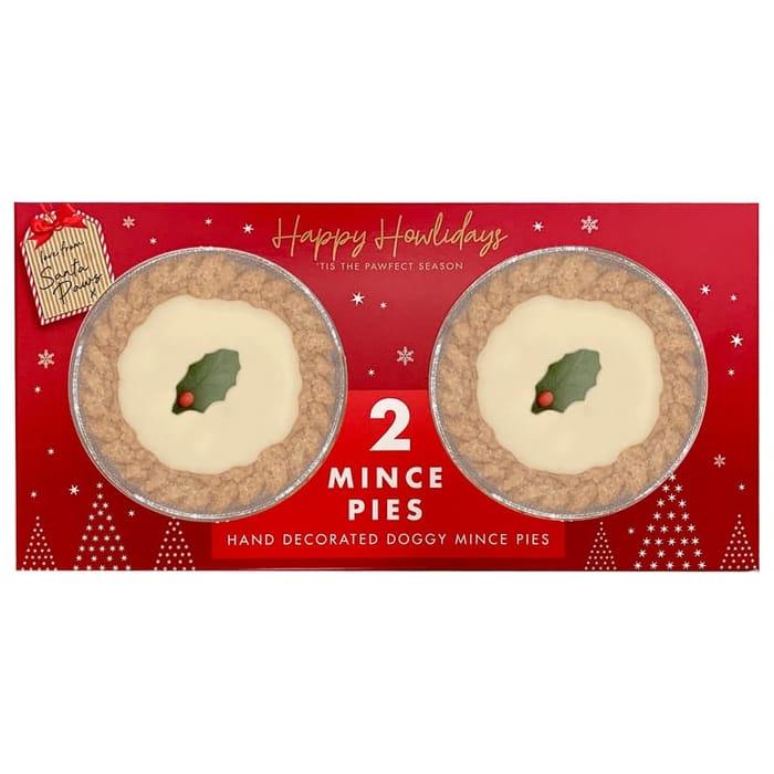 Happy Howlidays Doggy Mince Pies 2pk