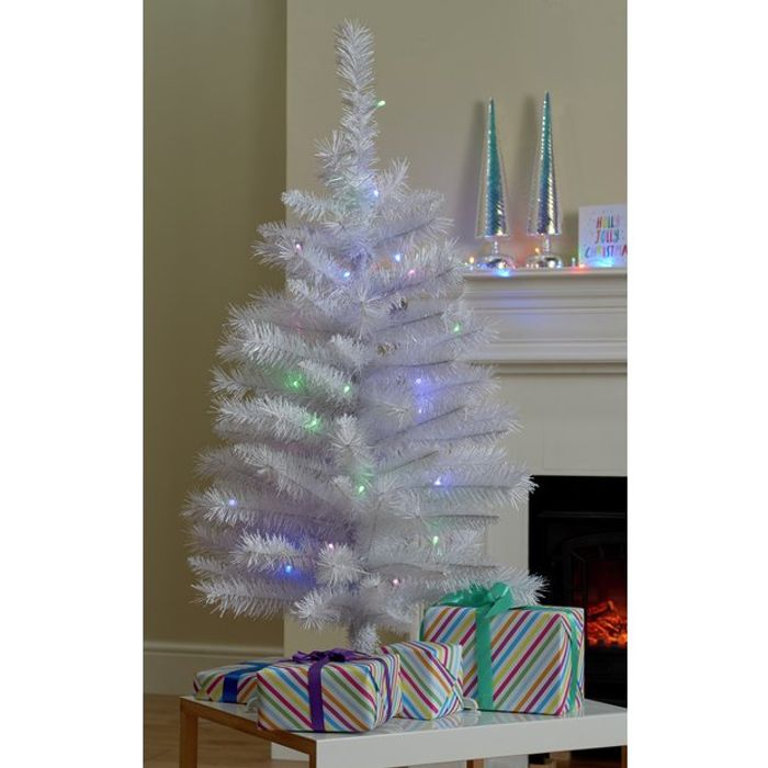 Cheap Argos Home 3ft Pre-Lit Iridescent Christmas Tree - White, Only £15!