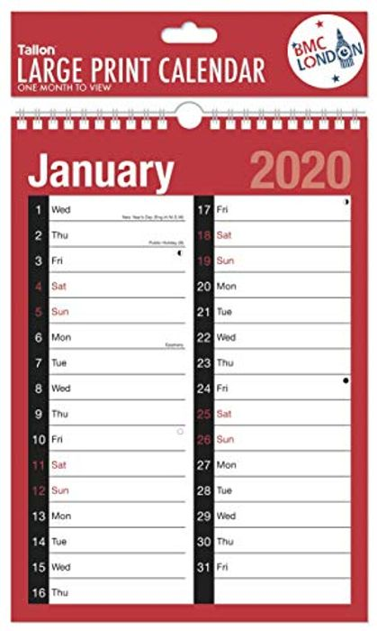 2020 Calendar with Free Delivery