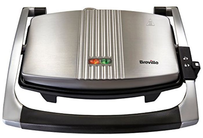 Breville Sandwich/Panini Press and Toastie Maker, 3-Slice, Stainless Steel
