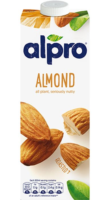 Alpro Chilled 1 Litre Cartons - Soya / Roasted Almond
