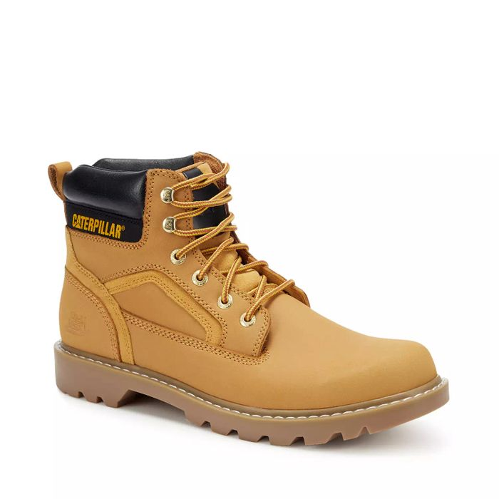 Men's Caterpillar Beige Leather 'Shift' Boots - save £65