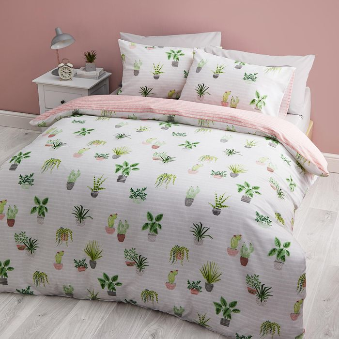 Gorgeous Cactus Reversible Single Duvet Cover Set from Dunelm - HALF PRICE!