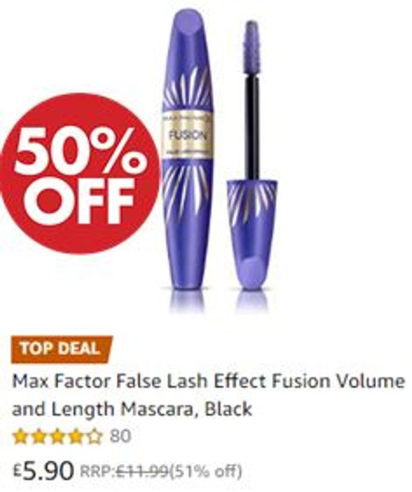 Max Factor False Lash Effect Fusion Volume and Length Mascara, Black
