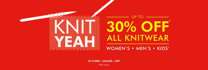 30% off All Knitwear Includes Christmas Jumpers, at Matalan