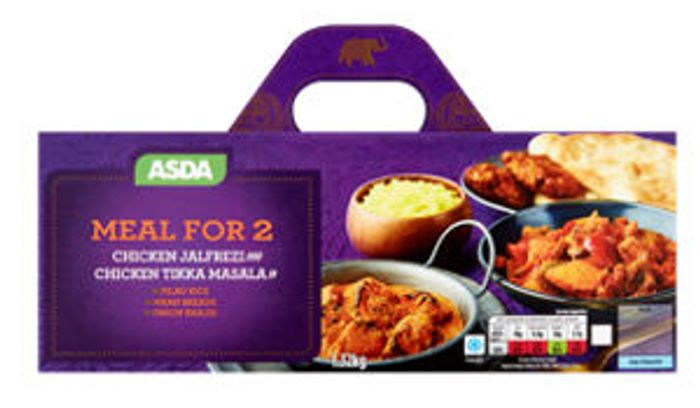 CHEAP! ASDA Indian Chicken Jalfrezi & Chicken Tikka Masala Meal for 2