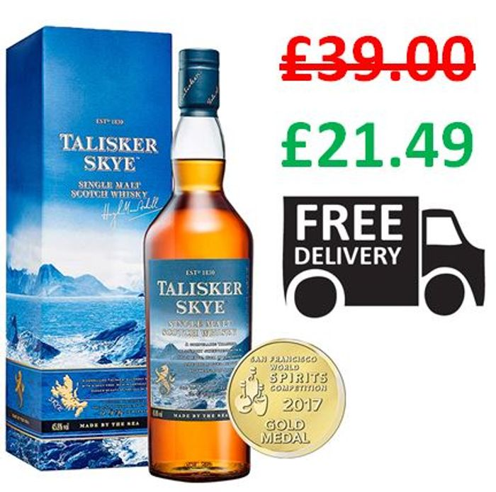 Talisker Skye Single Malt Scotch Whisky *4.7 STARS* - 45% Off!