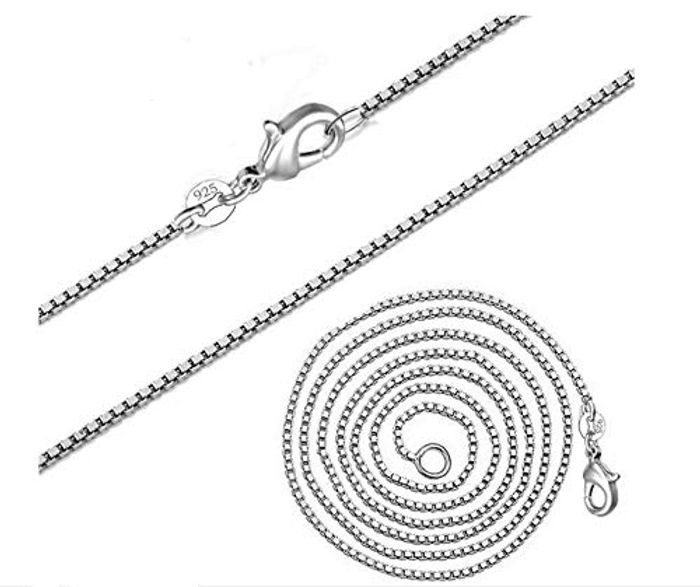 71% off 18-Inch 925 Sterling Silver Chain Necklaces for Women (Box Shape)
