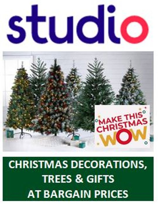 STUDIO Christmas Shop - Christmas DEALS GALORE from 14p!