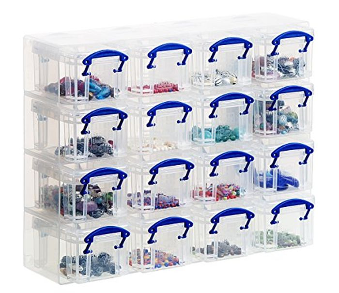 Really Useful Organiser, 16 X 0.14 Litre Storage Boxes