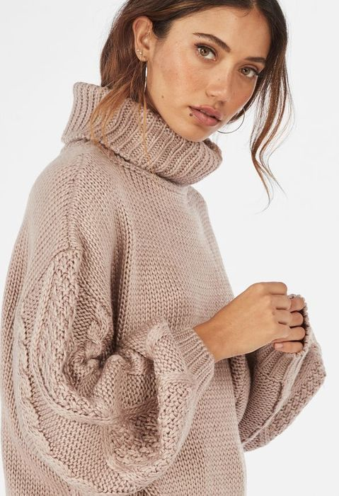 Cable Turtle Neck Sweater Justfab