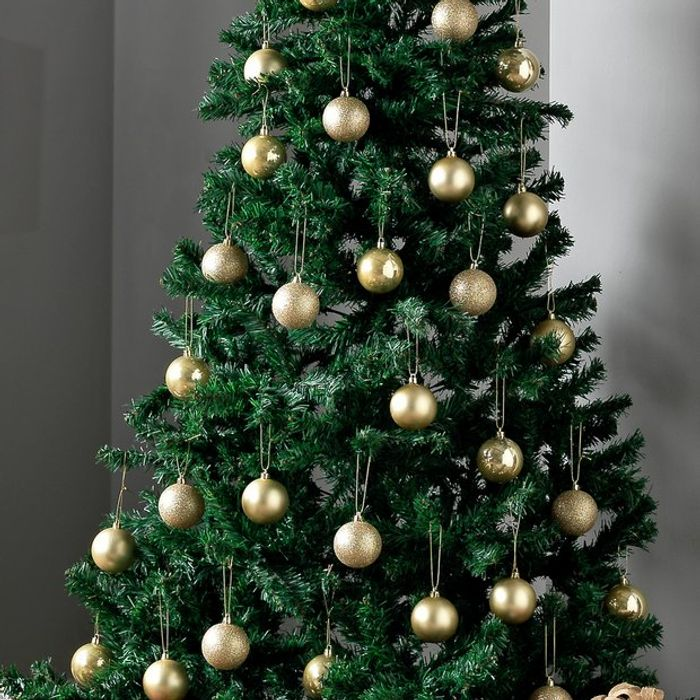 Argos Home 48 Pack of Baubles - Gold