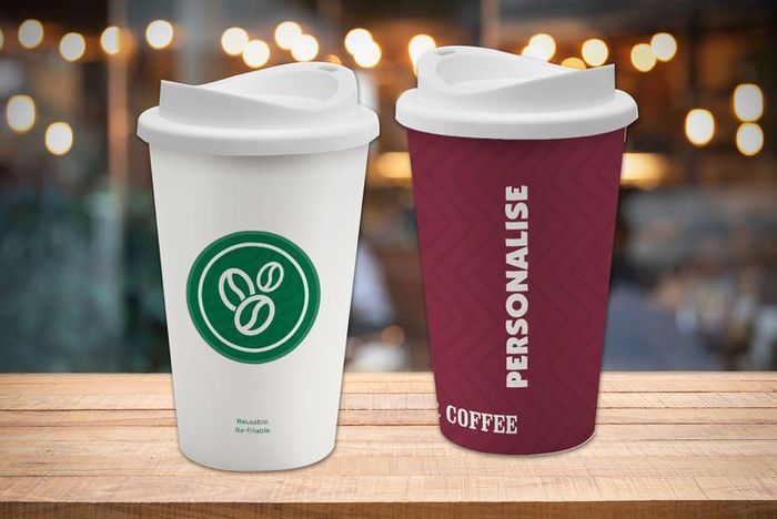 Personalised Reusable Coffee Cups - 2 Designs!