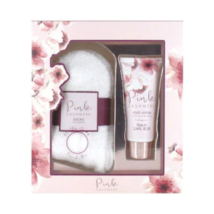 Pink Cashmere Socks Gift Set