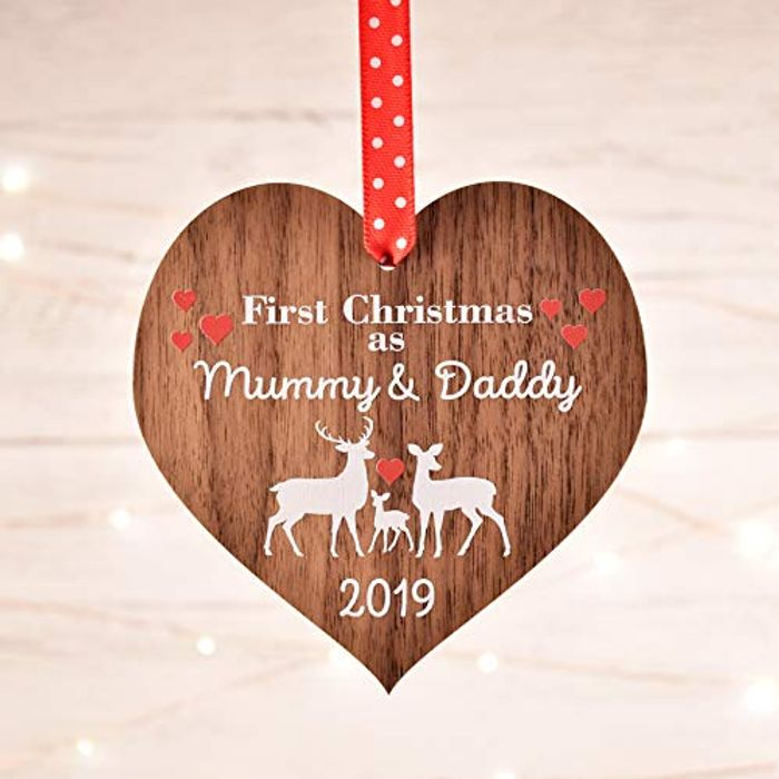 First Christmas as Mummy and Daddy Decoration Bauble