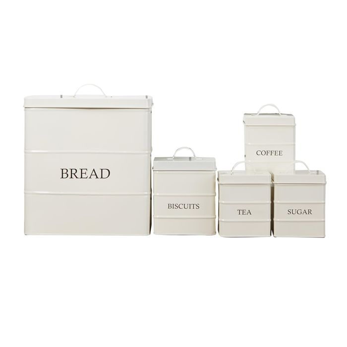 5 Piece Cream Kitchen Canister Set