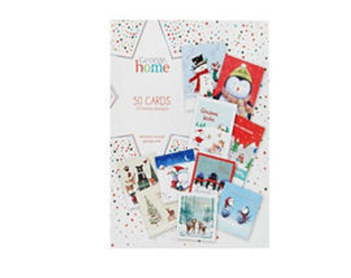 George Home Kids Christmas Cards Bumper Pack 50 Cards