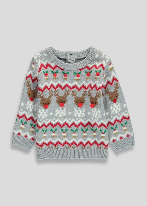 Kids Christmas Reindeer Jumper - Save £2.70!