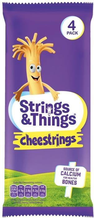 Strings & Things Cheestrings 4 Pack 80G
