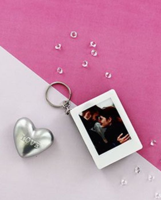 Photo Frame Light Box Keychain