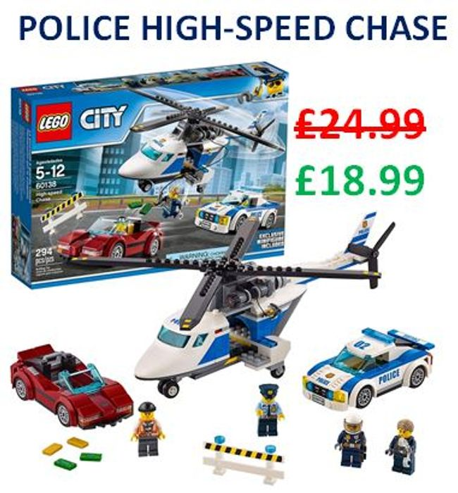 Cheap LEGO CITY Police High-Speed Chase (60138) - Save £6!