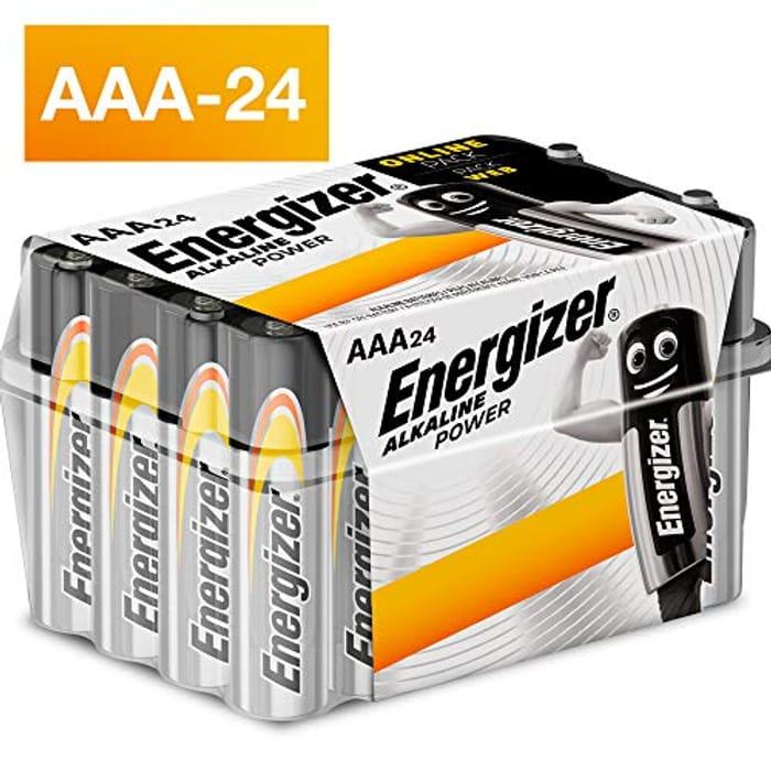 Energizer AAA Batteries, Alkaline Power, 24 Pack - Save £4!