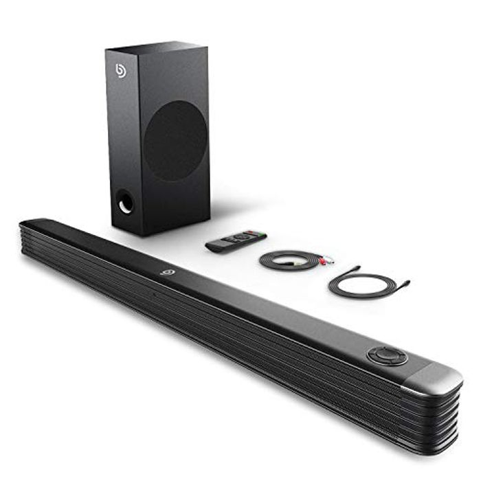 Deal Stack** 150W Soundbar for TV with Wireless Subwoofer,