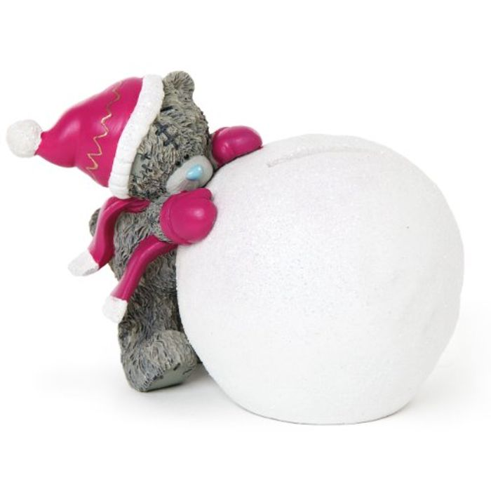 Me to You Tatty Teddy Hand Painted Snowball Money Box - Save £5!