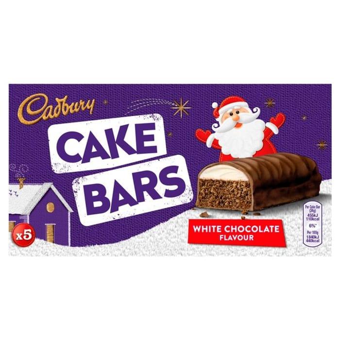 Cadbury Festive Cake Bars 5 per Pack 50p
