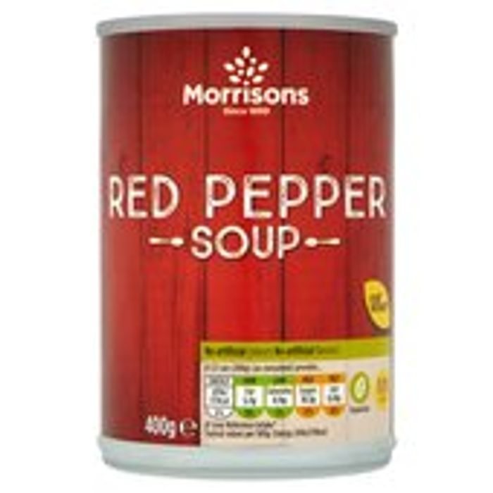 Cheap Morrisons Roast Red Pepper Soup 400g, Only £0.38!