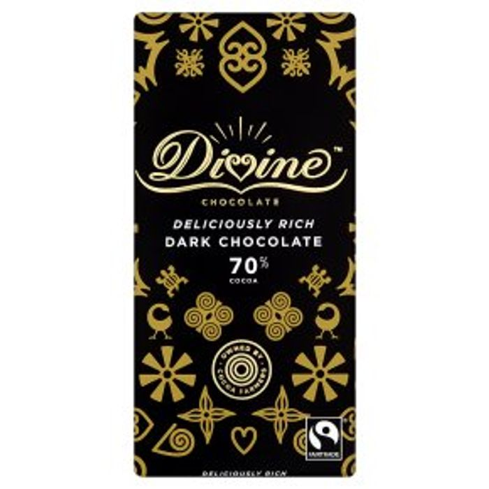 Divine Fairtrade 70% Dark Chocolate90g, Add 3 for £5