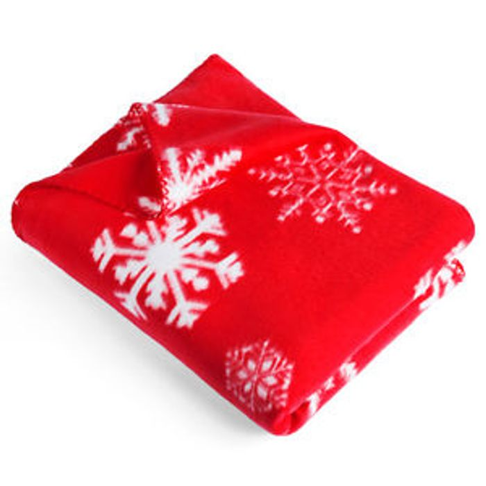 Red Snowflake Christmas Blanket - 10% off with Multi-Buy Discount