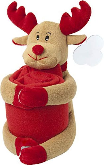 Cute Reindeer Christmas Blanket Great for Xmas Eve Box