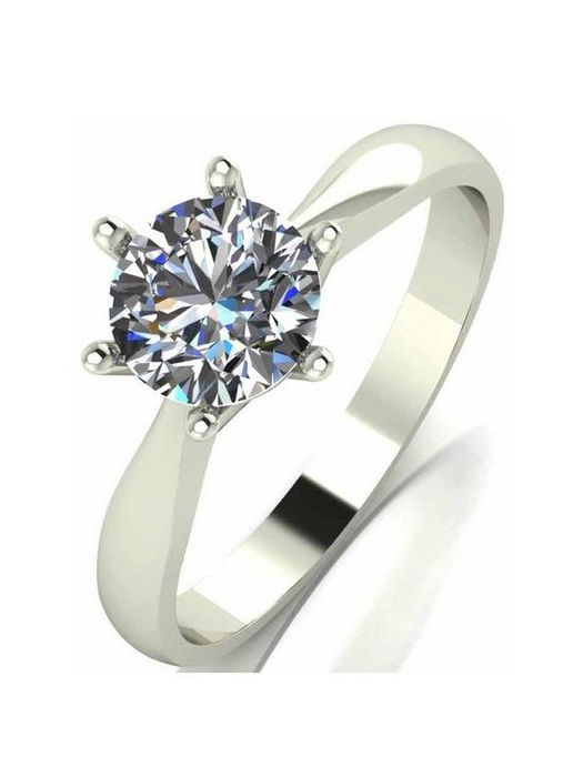 *SAVE £140* Moissanite 9 Carat White Gold 1 Carat Solitaire Ring