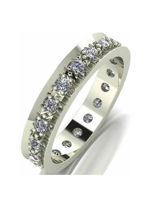 *SAVE £190* Love DIAMOND 9ct Gold 50 Points Diamond Full Eternity Ring