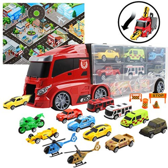 Transporter Truck Carrycase for Cars Play Set Carrier