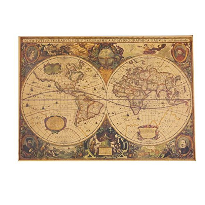 Cheap Vintage World Map Poster, Onl;y £1.83!