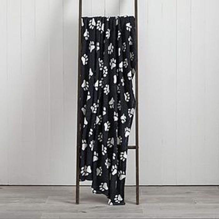 Best Price Soft Fleece 130cm X 170cm Throw - Pawprint, Spotted and Plain Designs