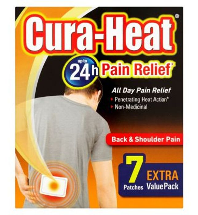 Cura-Heat Back & Shoulder Pain - 7 Packs on Sale From £7.99 to £5.33