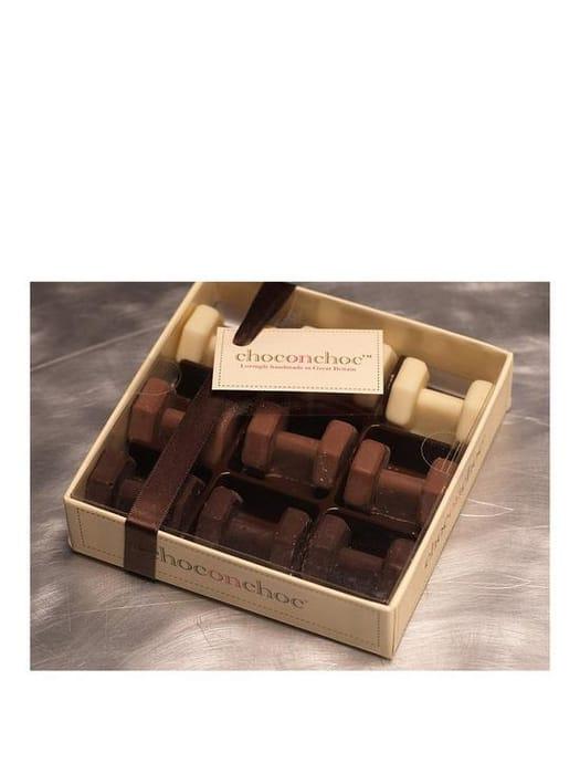 Choc on Choc Chocolate Dumbells Gift Box