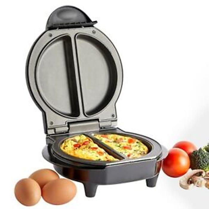 VonShef Omelette Maker Electric Non Stick Egg Fryer Pan Cooker Scrambled Omlette