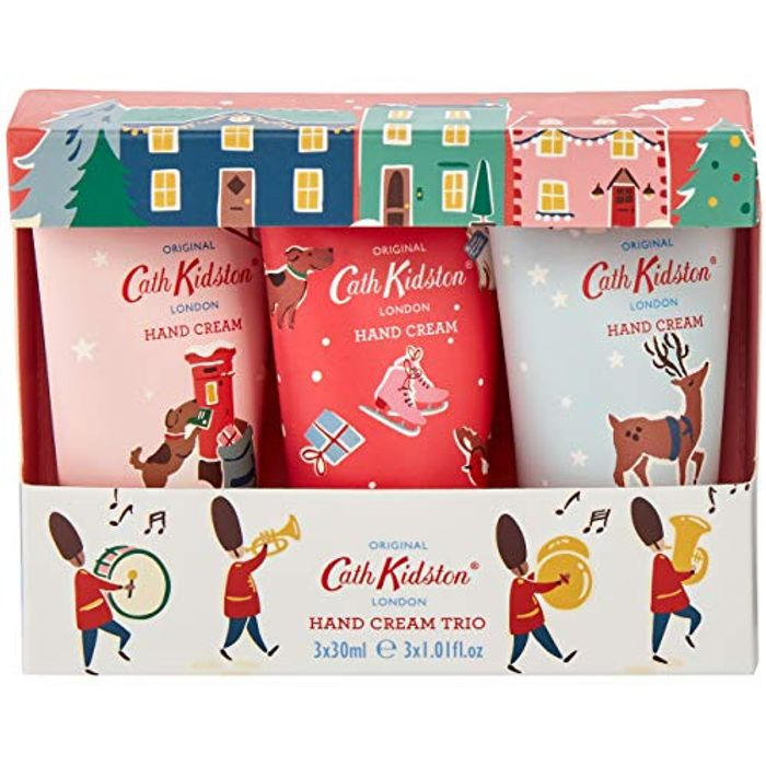 Cath Kidston Beauty Christmas Hand Cream Trio Gift Box Travel Size, 3 X 30ml