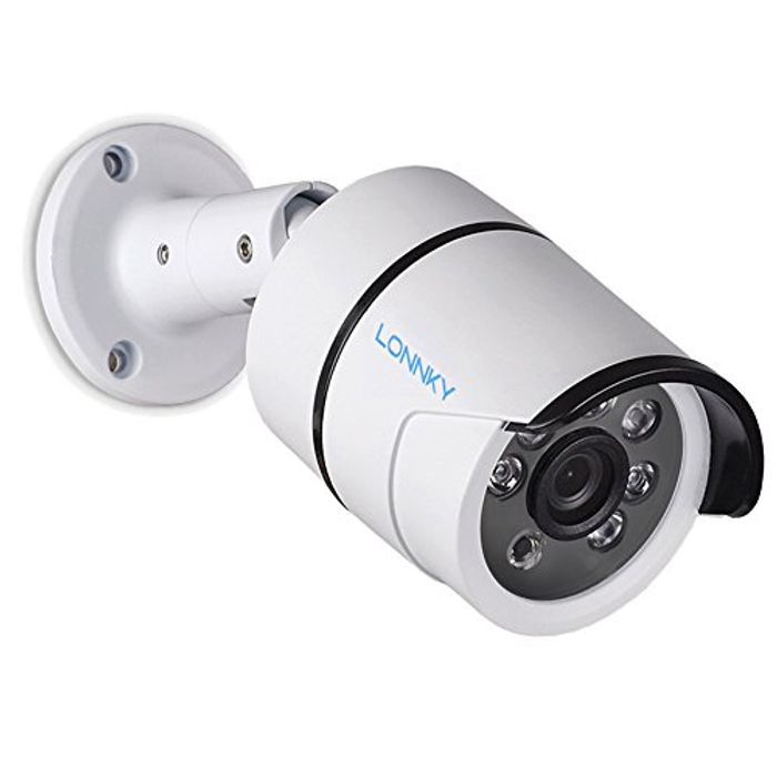 LONNKY Full HD 1080P Outdoor Security Bullet Camera and 100ft (30m) Night Vision