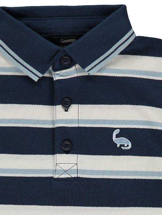 Blue Striped Polo Shirts 2 Pack(1-1.5yrs)